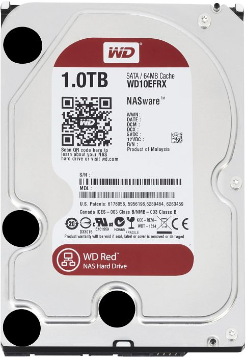 Western Digital RED 1.0TB 64MB SATA harddisk
