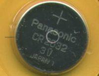 knoopcell CR2032 batterij 3V mainboard