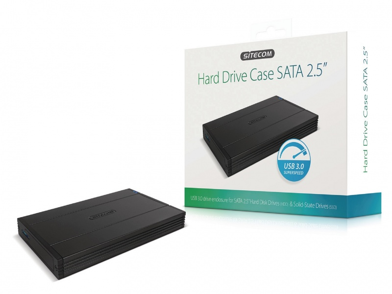 Harde Schijf Behuizing 2.5  inch  SATA USB 3.0 Zwart