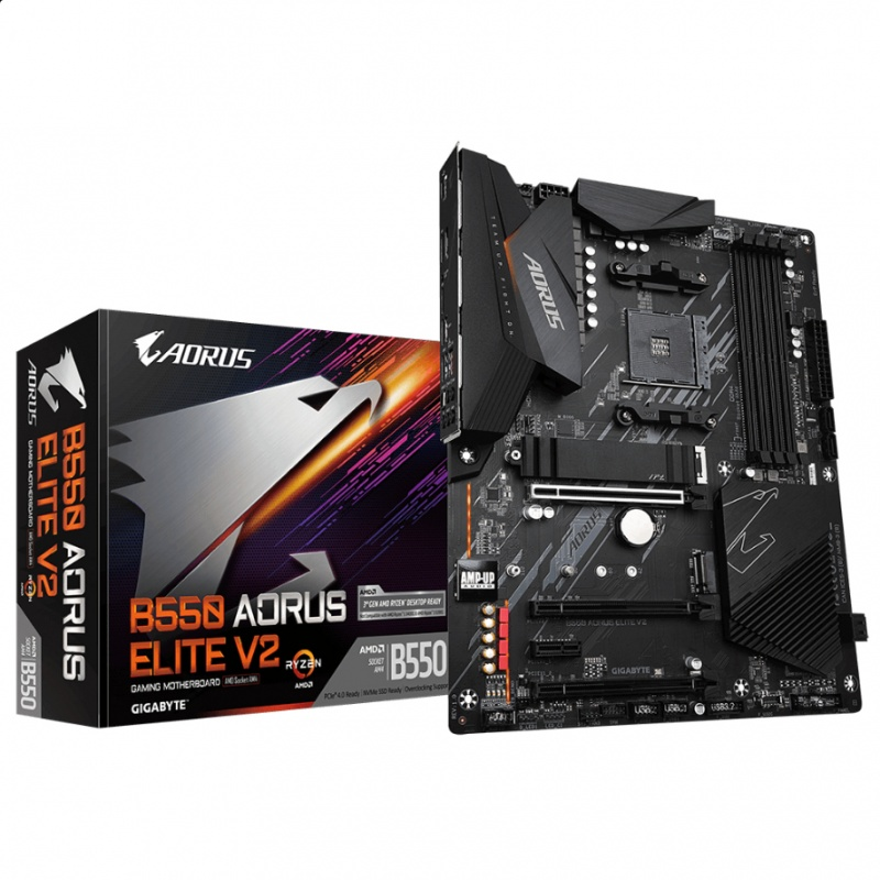 Gigabyte B550 AORUS ELITE  V2 moederbord AMD B550 Socket AM4 ATX