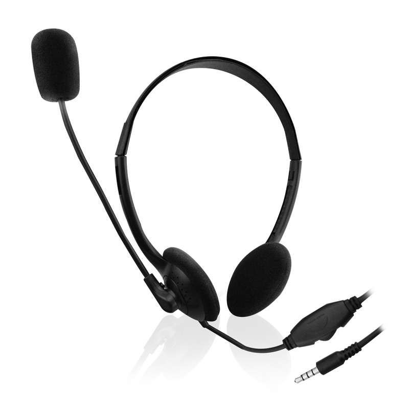 Ewent EW3567 hoofdtelefoon / headset Hoofdband 3,5mm-connector Zwart
