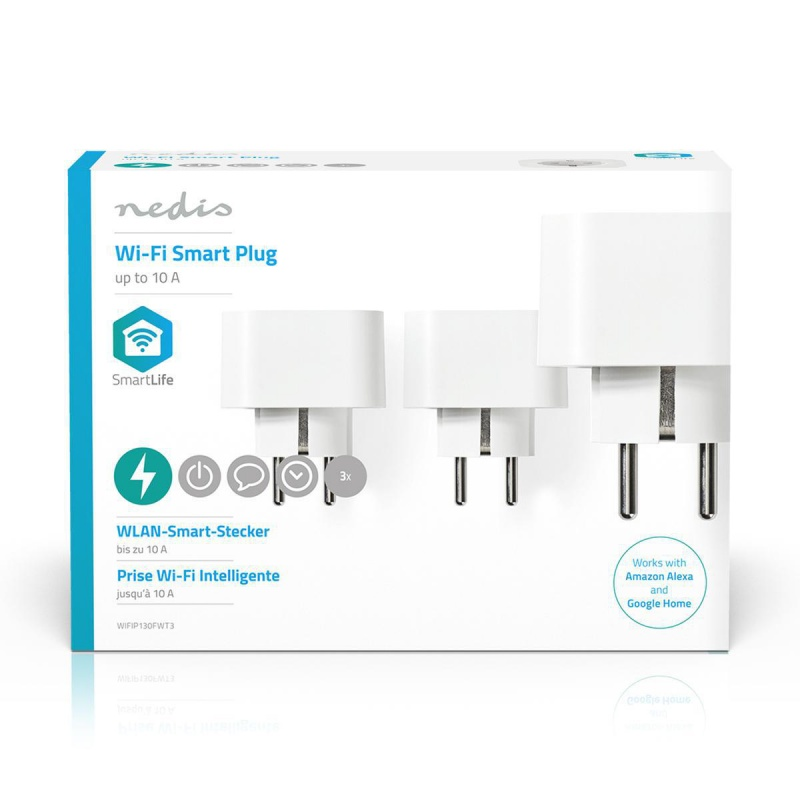 Nedis Wi-Fi Smart-Stekker Schuko Type-F 10 A 3-Pack