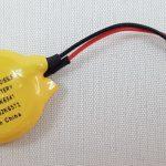 Knoopcell CR2032 batterij 3V met kabel 2 polig