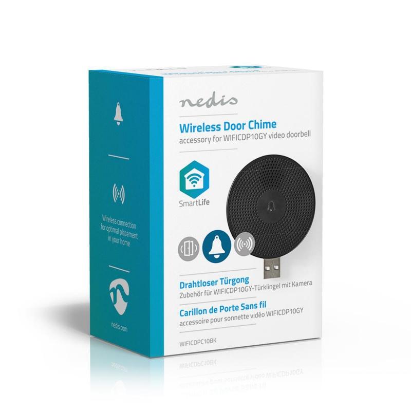 Nedis Draadloze Deurbel Gong Accessoire voor WIFICDP10GY USB