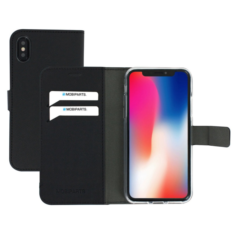 Mobiparts Saffiano Wallet Case Apple iPhone X Black