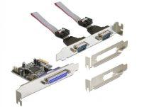 DeLOCK PCI Express card 2 x serieel, 1x parallel