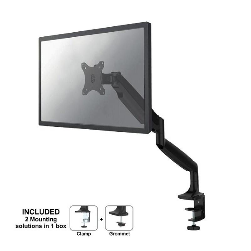 Newstar NM-D750BLACK flat panel bureau steun 81,3 cm (32 inch ) Klem / doorvoer Zwart