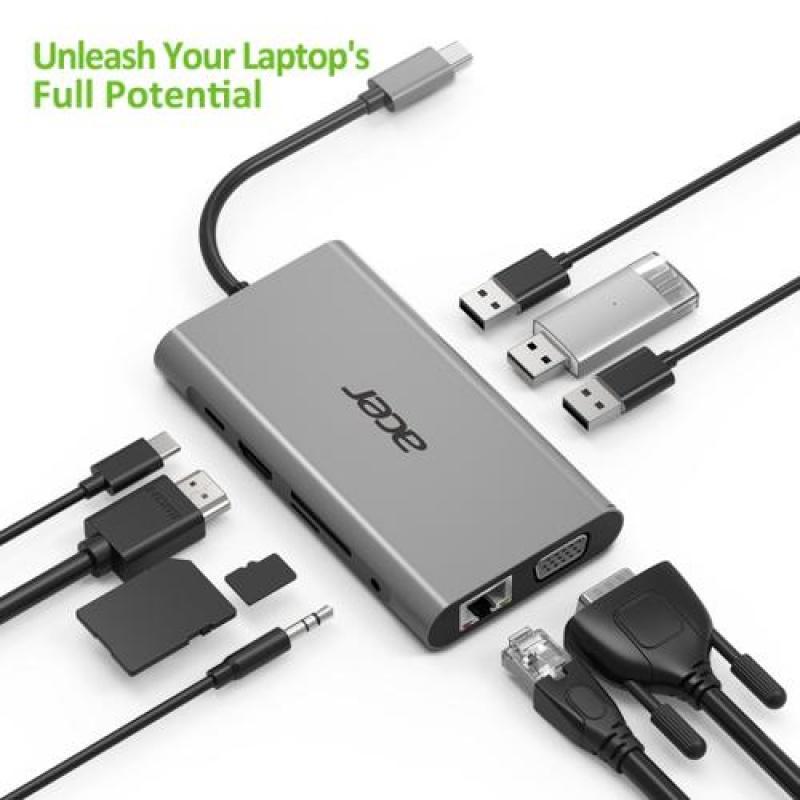 Acer 10 mini Dock USB 3.2 Gen 1 (3.1 Gen 1) Type-C 5000 Mbit / s Zilver