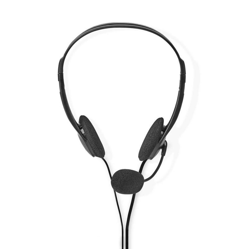 PC-Headset On-Ear 2x 3,5 mm Connectoren 2 meter zwart