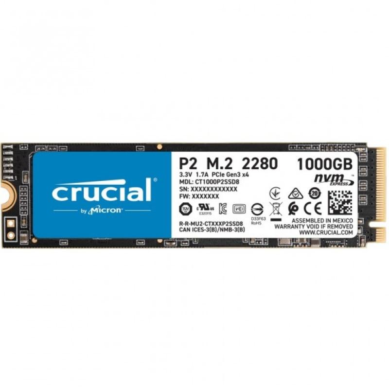 M.2 1TB Crucial P2 NVMe PCIe 3.0 x 4
