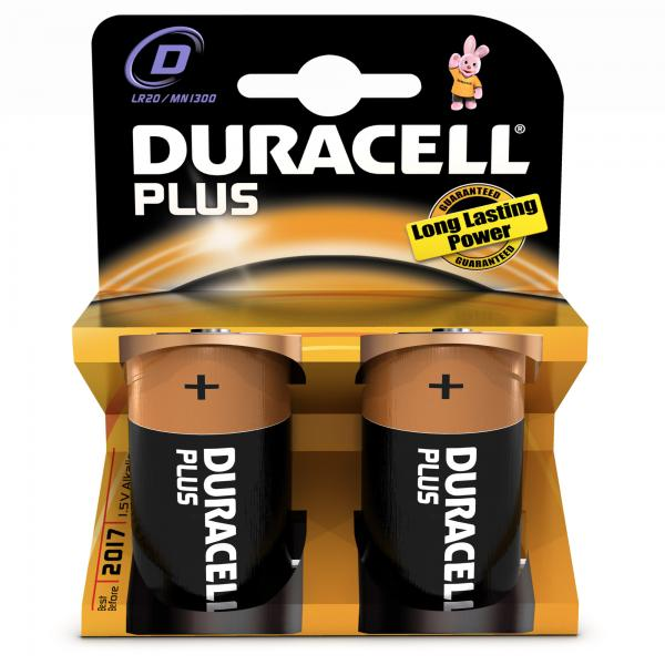 Duracell Plus Power D Batterijen (2)