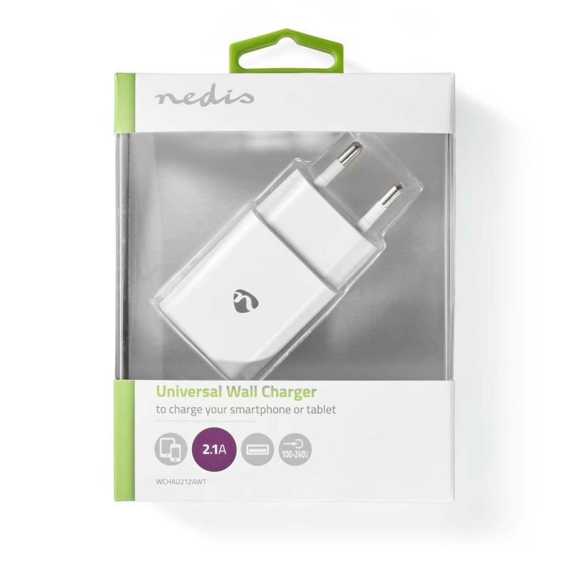 Nedis Oplader  1x 2,1 A outputs: 1 Poorttype: USB-A Geen Kabel Inbegrepen 10.50 W