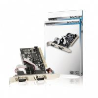 Konig 2-poorts serieel PCI kaart