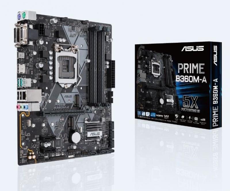 ASUS PRIME B360M-A Intel B360 LGA 1151 v2 (Socket H4) Micro ATX