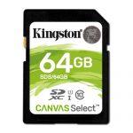Kingston 64GB SDXC  UHS-I Canvas Select