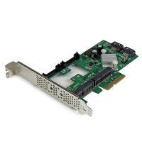StarTech.com 2-poorts PCI Express 2.0 SATA III 6 Gbps RAID controllerkaart met 2 mSATA-sleuven en HyperDuo SSD Tiering RAID controller