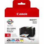 Canon PGI-1500XL C / M / Y / BK Origineel Zwart, Cyaan, Magenta, Geel