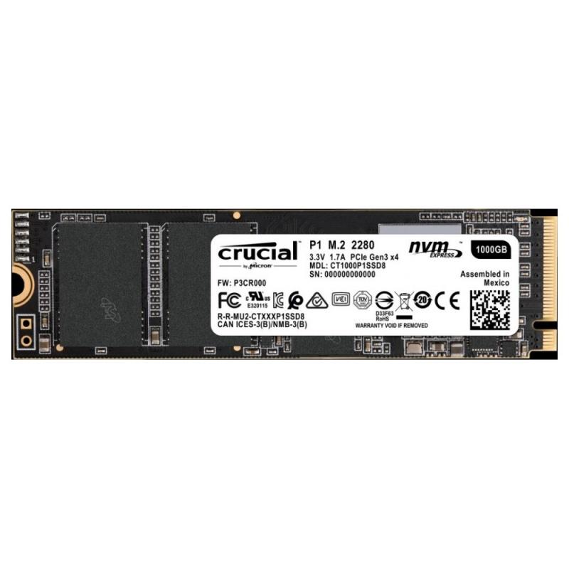 Crucial M.2 1TB Crucial P1 NVMe PCIe 3.0 x 4