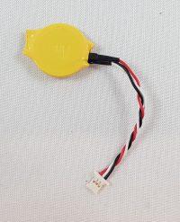Knoopcell CR2032 batterij 3V met kabel 3 polig plat