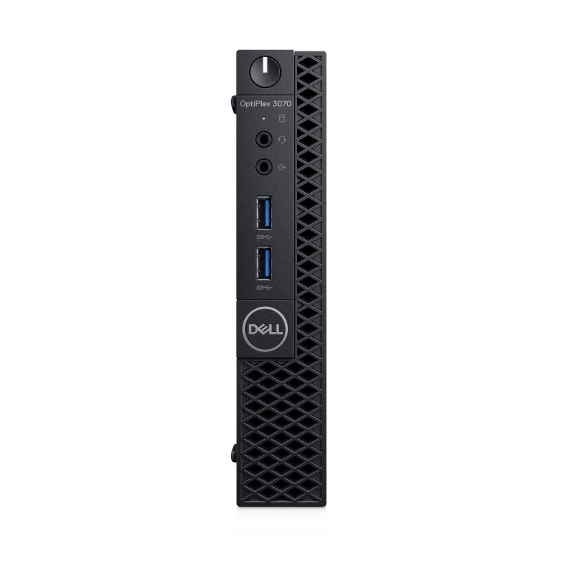 DELL OptiPlex 3070 Intel 9de generatie Core i5 i5-9500T 8 GB DDR4-SDRAM 256 GB SSD MFF Zwart Mini PC Windows 10 Pro