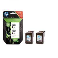 HP nr 338 zwart dubbelpak