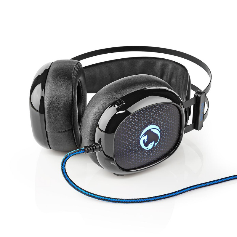 Gaming Headset | Over ear | Ultra Bass | LED-lampje | 3,5 mm- en USB-stekkers