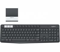Logitech K375s toetsenbord RF Wireless + Bluetooth QWERTY US International Grafiet, Wit