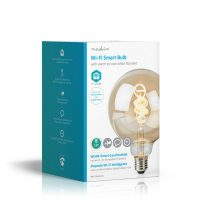Nedis Wi-Fi Warm tot Koel Wit LED Filamentlamp| Gedraaid G125 5,5 W 350 lm