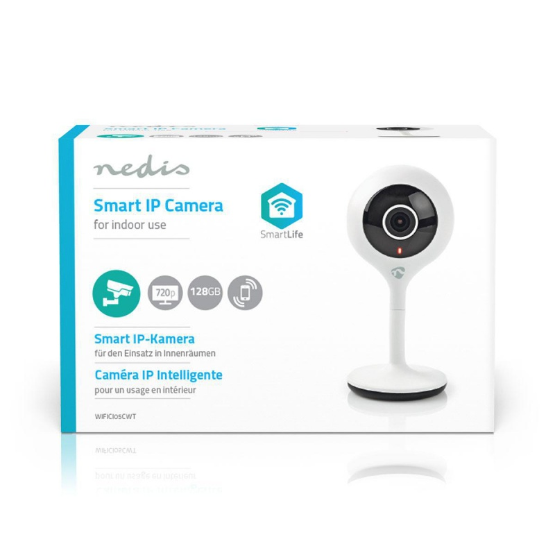 Nedis Wi-Fi smart IP-camera - HD 720p